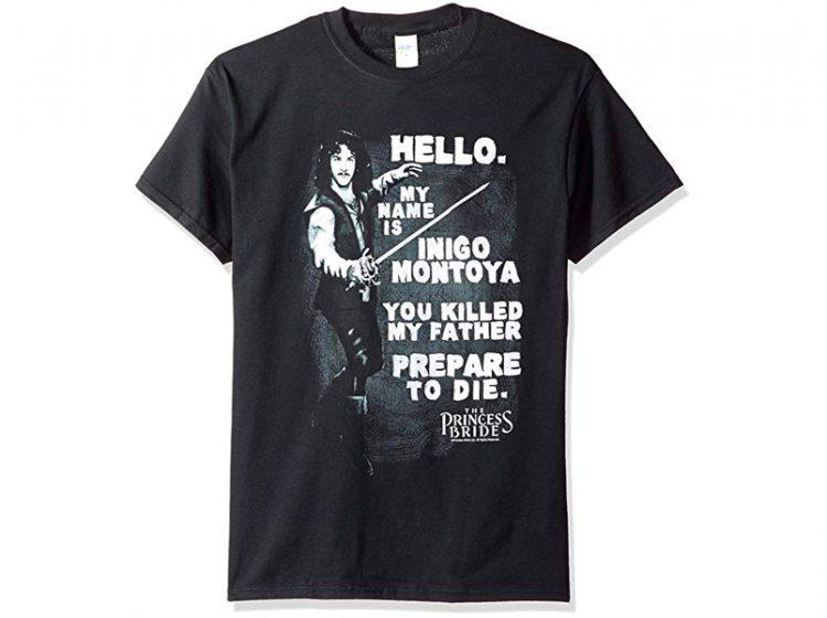 Princess Bride Hello Again Juniors Black T-shirt
