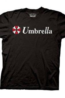 Resident Evil Umbrella Corporation Classic Logo Black Adult T-shirt