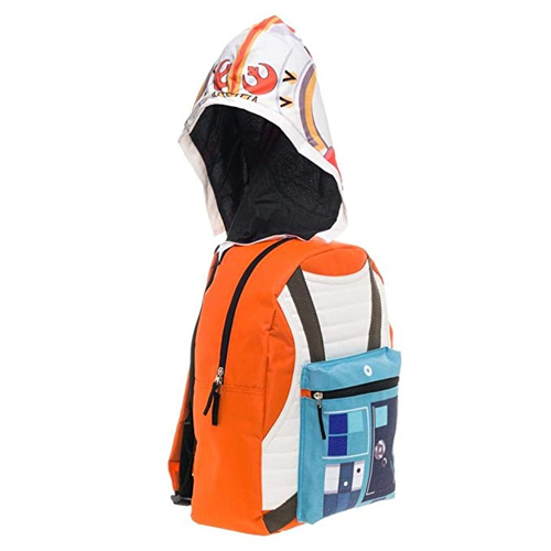 Star Wars X-Wing Squadron Orange Backpack with Hood