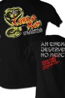 Karate Kid Cobra Kai Never Dies Black T-shirt