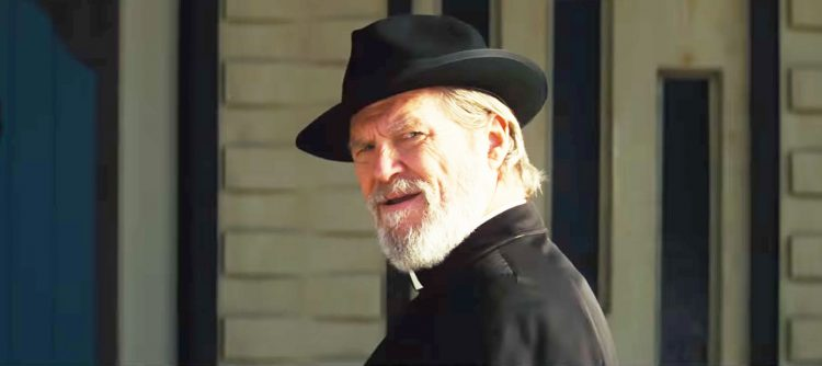 Black hat Jeff Bridges in Bad Times at the El Royale (2018)