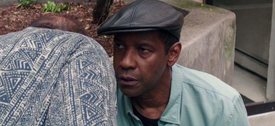 Black leather flat cap Denzel Washington in The Equalizer 2 (2018)