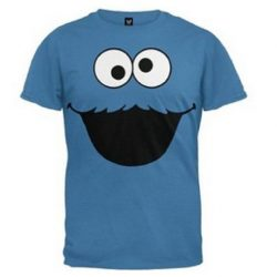 Cookie Monster Face Toddlers T-Shirt