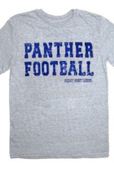 Friday Night Lights Panther Football Heather Gray Adult T-Shirt