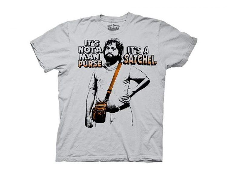 The Hangover Alan Not A Man Purse It's A Satchel Ice Grey T-Shirt