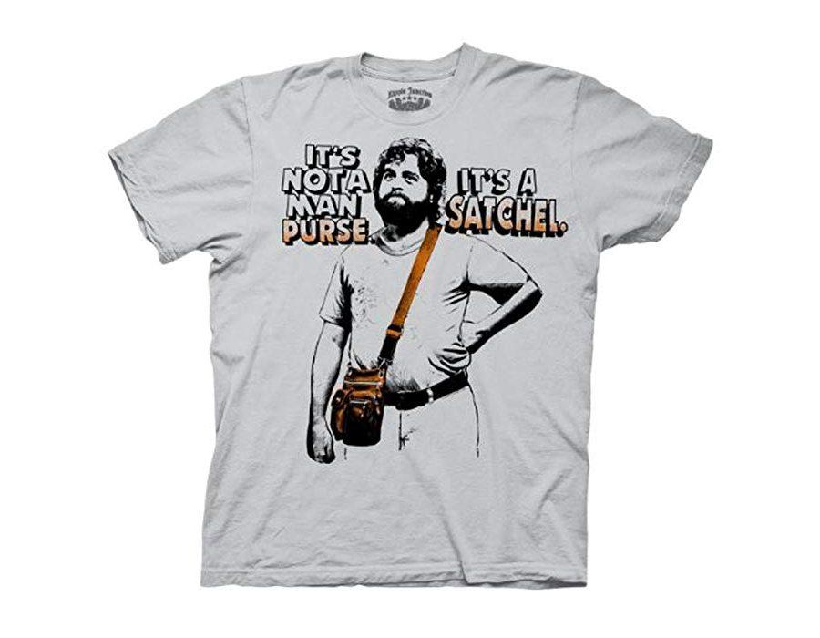 The Hangover Alan Not A Man Purse It's A Satchel Ice Grey T-Shirt
