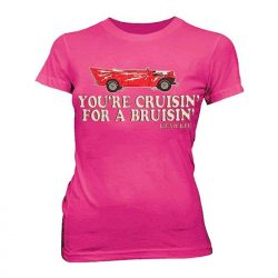 Grease You're Cruisin' For A Bruisin Kenickie Hot Pink Juniors T-shirt