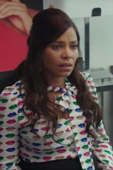 Lips print blouse Sanaa Lathan in Nappily Ever After (2018)