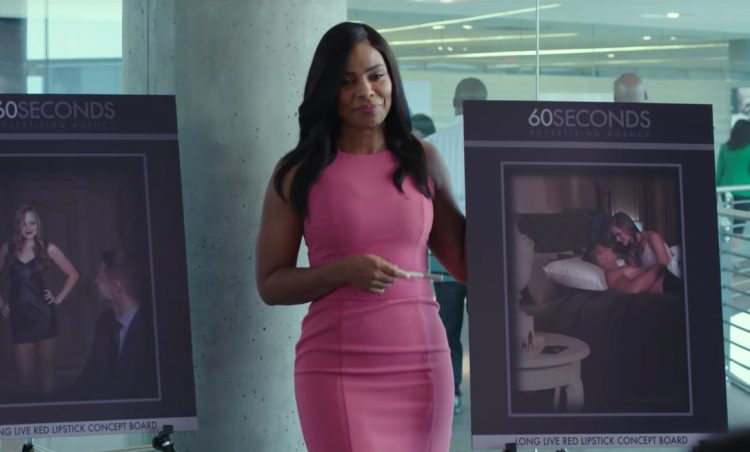 Pink dress Sanaa Lathan in Nappily Ever After (2018)