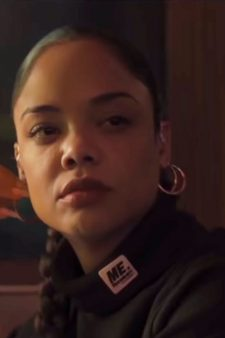 Black Cropped Turtleneck Tessa Thompson in Creed II (2018)