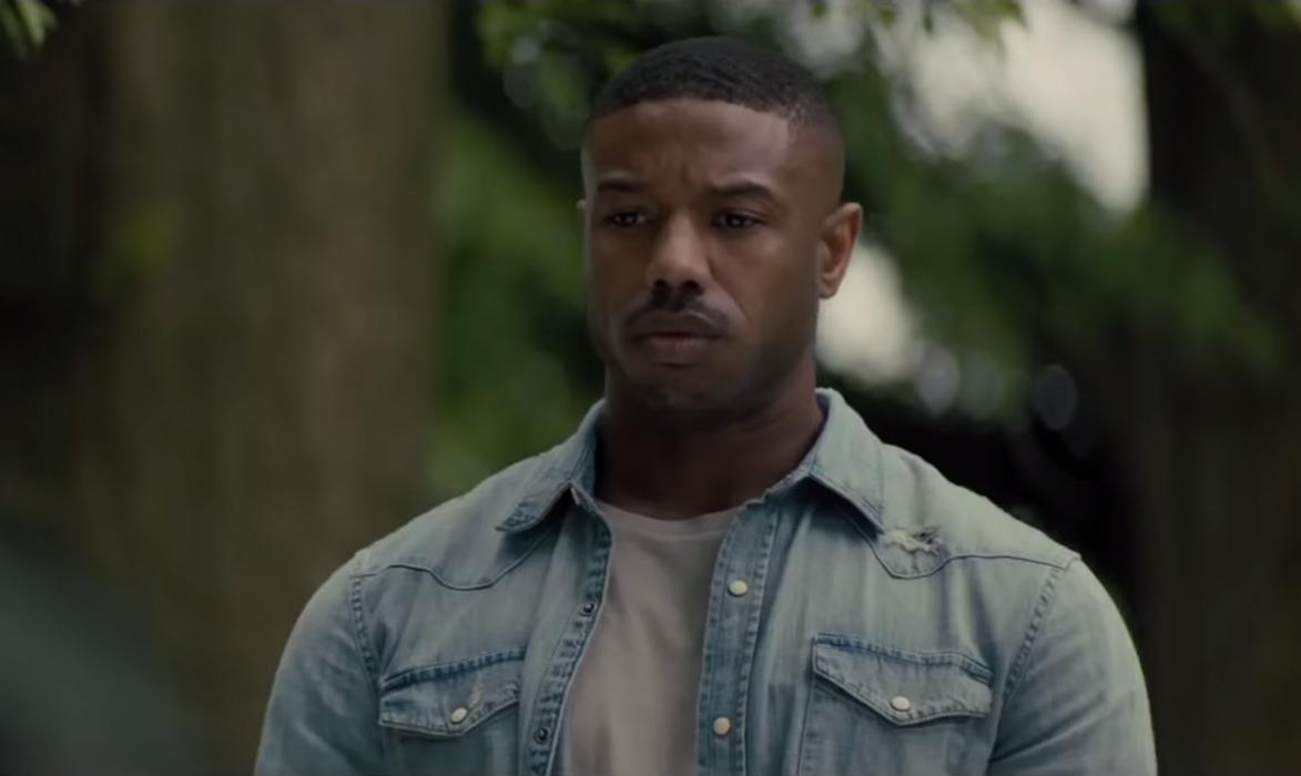 65fc5d74238520 Denim shirt Michael B. Jordan in Creed II (2018)