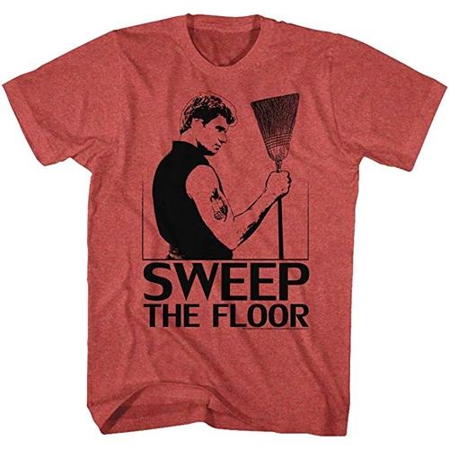 The Karate Kid Cobra Kai Sweep The Floor Adult Heather Red T-shirt