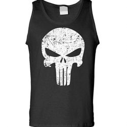 The Punisher Movie Skull Logo Black Tank Top Sleeveless Shirt