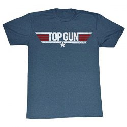 Top Gun Logo Adult Heather Navy T-Shirt