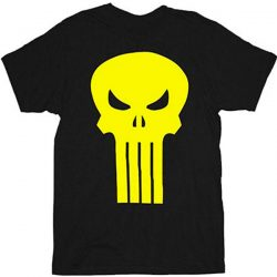 The Punisher Yellow Skull Logo T-Shirt