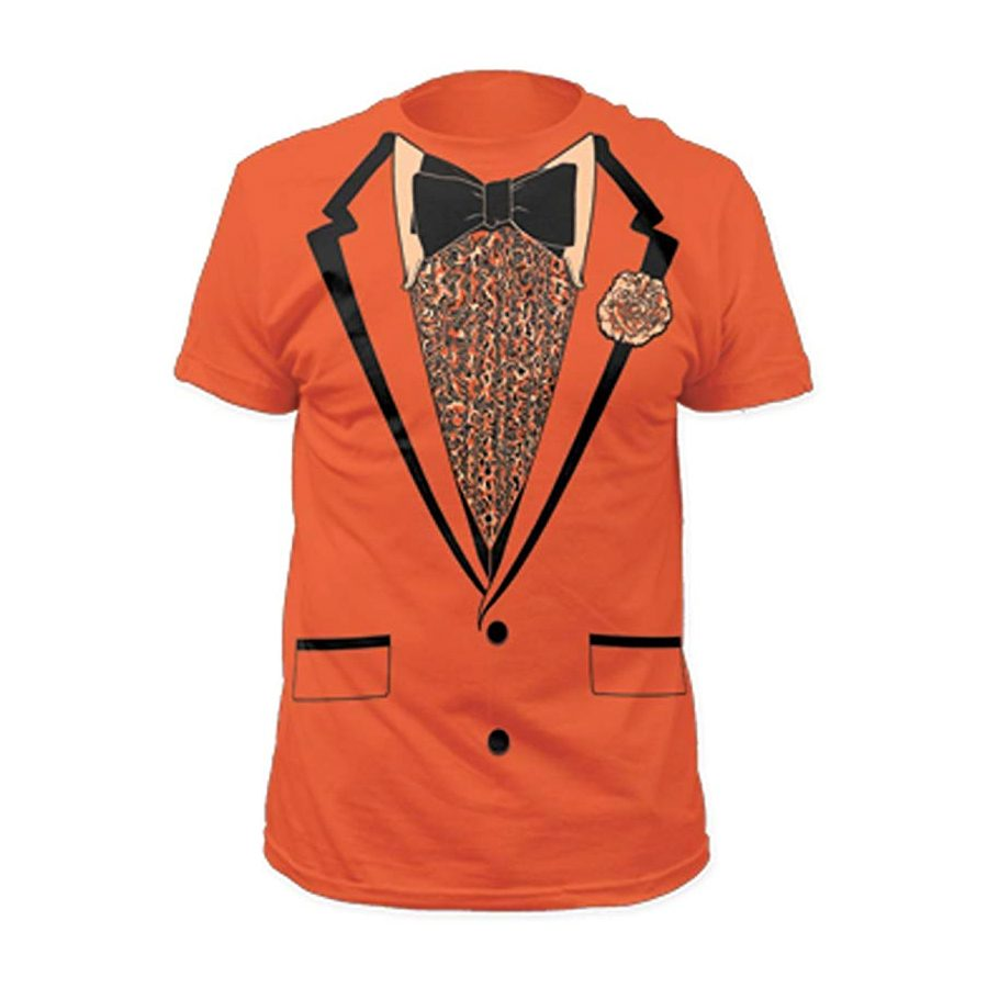 Dumb and Dumber Tuxedo Tux Costume Orange T-shirt