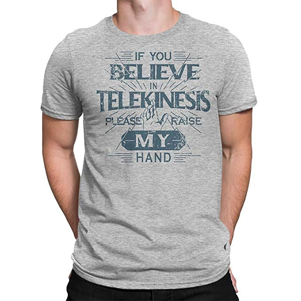 premium selection 02eb7 b46dd If You Believe in Telekinesis Please Raise My Hand T-Shirt Tom Holland in  Spider-Man: Far From Home (2019)
