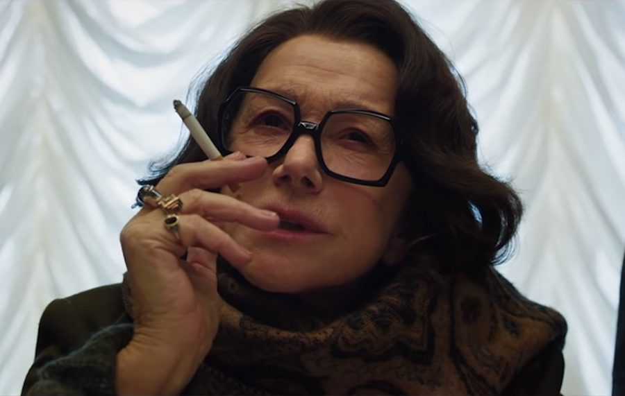 Hexagon shaped glasses Helen Mirren in Anna (2019)