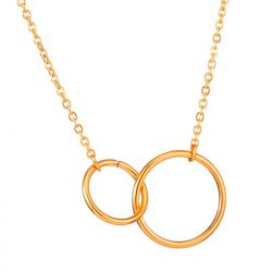 Interlocking rings pendant necklace Jennifer Aniston in Murder Mystery