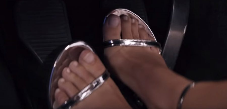 Silver strap pumps Jennifer Aniston in Murder Mystery