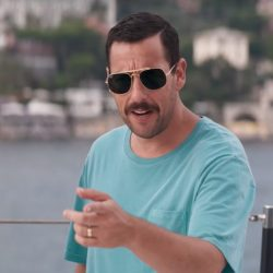 Aviator sunglasses Adam Sandler in Murder Mystery