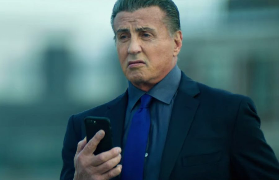 Blue tie Sylvester Stallone in Escape Plan The Extractors-1