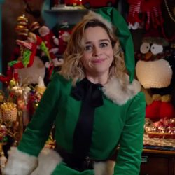 Green elf costume Emilia Clarke in Last Christmas