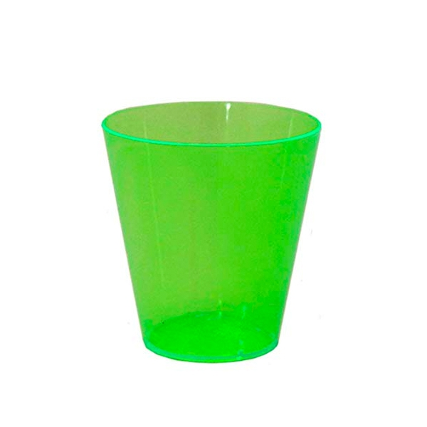 Neon green shot glasses in Last Christmas