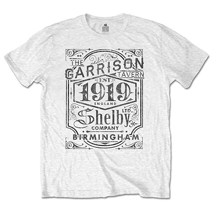 Peaky Blinders 'Garrison Pub' (White) T-Shirt