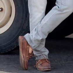 Brown Boat Shoes Daniel Craig in No Time to Die