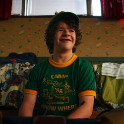 Camp Know Where T-Shirt Gaten Matarazzo in Stranger Things