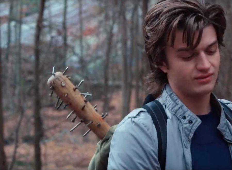 Spike baseball bat Joe Keery in Stranger Things