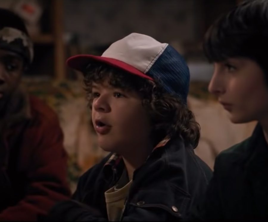 Red/White/Blue cap Gaten Matarazzo in Stranger Things