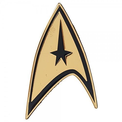 """Star Trek Command Logo Badge Pin - Gold - 2"""" X 1"""""""