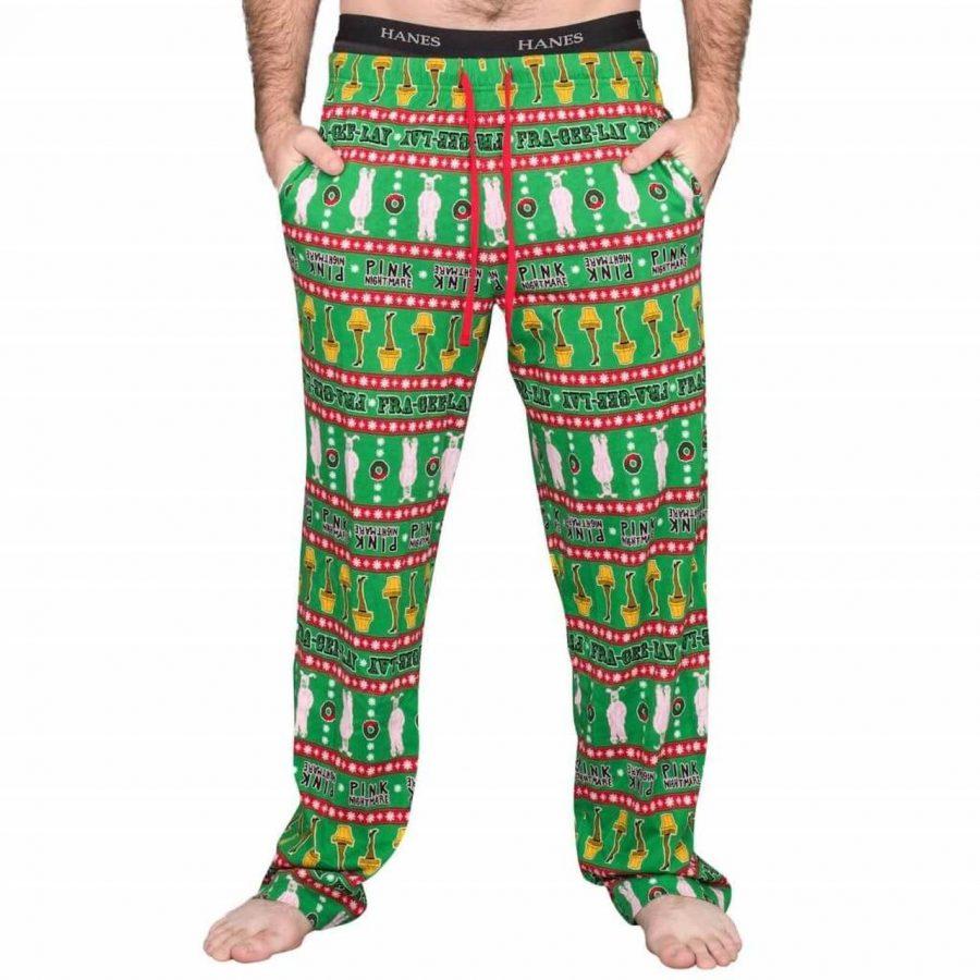A Christmas Story Major Award Leg Lamp Green Pants - Green - XXL