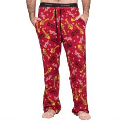 A Christmas Story Major Award with Leg Lamp Lounge Pants - Red - XXL