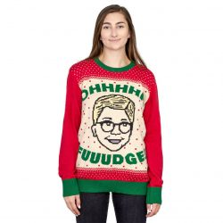 A Christmas Story Ohhhh Fuuudge! Ralphie Ugly Christmas Sweater - Red - 4XL