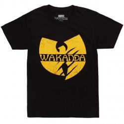 Black Panther Wakanda Wu Tang Black T-shirt - Black - 4X