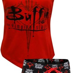 Buffy The Vampire Slayer Women's Pajama Set - Red/Black - XL