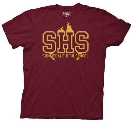 Buffy the Vampire Slayer SHS Sunnydale High School T-shirt - Maroon - 3X