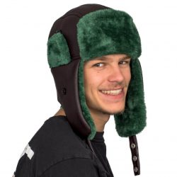 Christmas Vacation Cousin Eddie Trapper Faux Fux Hat - Brown/Green - One size fits all