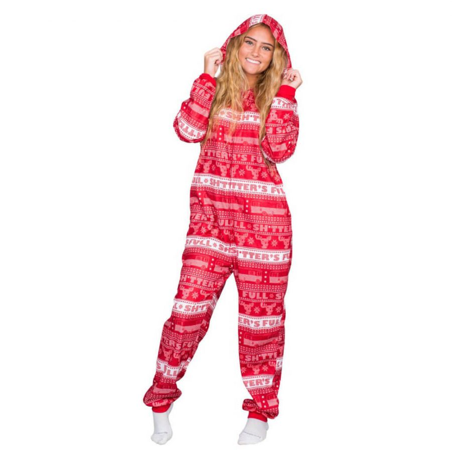 Christmas Vacation Shitter's Full Pajama Union Suit - Red - 3XL