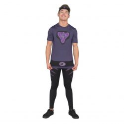 Dodgeball Purple Cobras Adult Costume Set - Black/Purple - 3XL