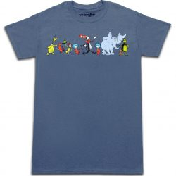 Dr. Seuss Parade of Characters T-shirt - Blue - 2X
