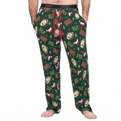 Elf OMG! Santa! Adult Pajamas Lounge Pants - Green - XXL