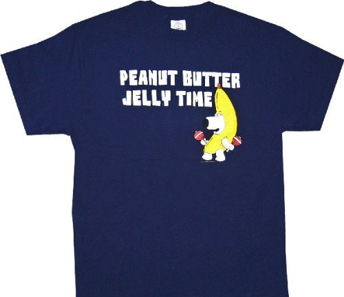 Family Guy Peanut Butter Jelly Time T-shirt - Navy - 2X
