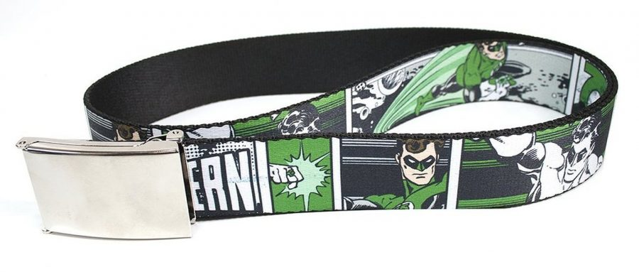 Green Lantern Adult Comic Web Belt - Green/Black - One size fits all
