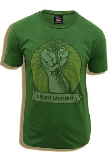 Green Lantern Fist Adult T-shirt - Green - 2X