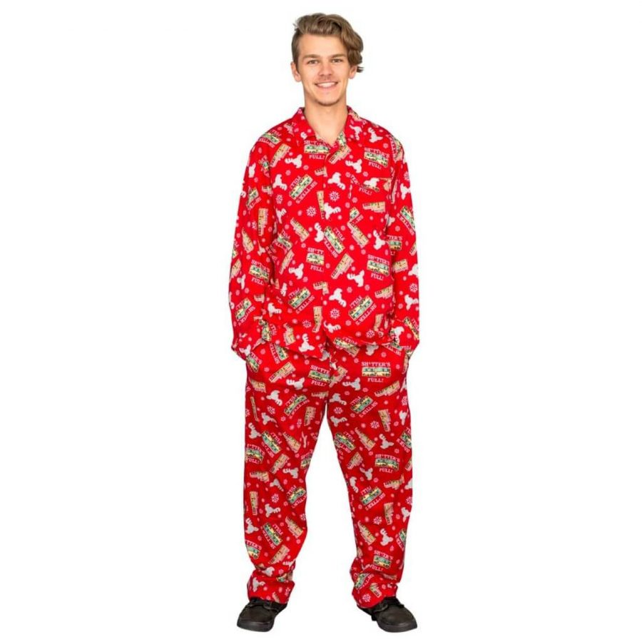 Griswold Family Christmas Vacation Shitter's Full Pajama Set - Red - XXL