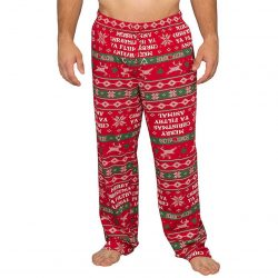 Home Alone Merry Christmas Ya Filthy Animal Lounge Pants - Red - XXL